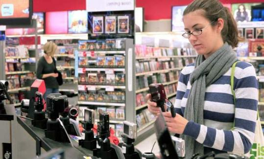 Sarah Hodges looked at a camera while shopping at a Super Target in Durham, N.C.