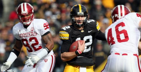 Ricky Stanzi ran into big trouble against Indiana, throwing five interceptions, but he helped rally Iowa with a 28-point fourth quarter.