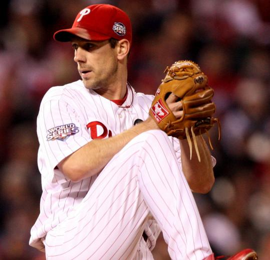 cliff lee phillies uniform. GQ named Phillies fans the