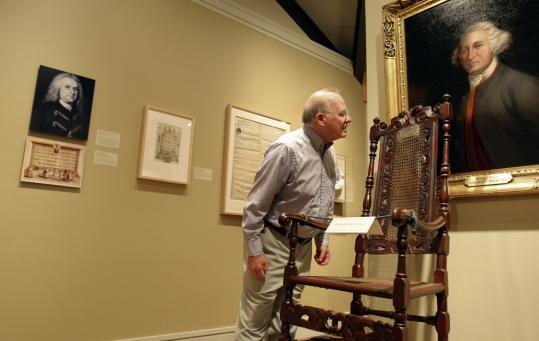 Freemason Dick Curtis tours the group's National Heritage Museum in Lexington.
