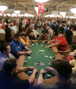 The 2005 World Series of Poker in Las Vegas attracted thousands of players, and the top prize was over $7 million.