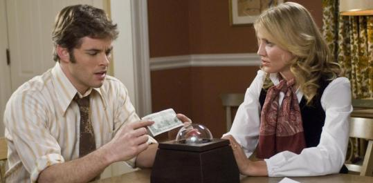 "James Marsden and Cameron Diaz star as a married couple with a moral dilemma in ""The Box.''"