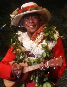 George Lanakilakeikiahiali'i Na'ope was a cultural icon in Hawaii. In 1964, he founded an annual weeklong festival to celebrate traditional Hawaiian art, crafts, music, and dance.