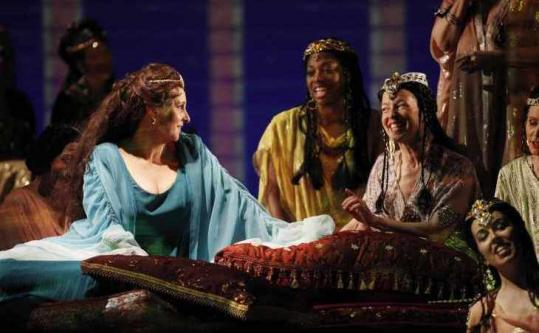 Lauren Flanigan (left) as Esther in the story of the Jewish queen of Persia who saved her people from annihilation.