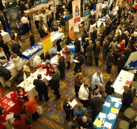 Job fairs will remain popular attractions with the state forecast to lose more than 60,000 additional jobs before the labor market hits bottom.
