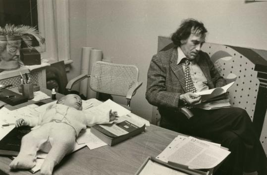 William Kunstler and his daughter, Sarah, in 1977. Sarah and her sister Emily wrote and directed the film about their father.