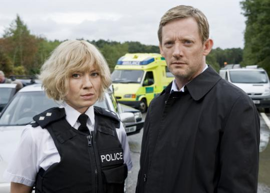 "Kate Ashfield and Douglas Henshall star in the PBS miniseries ""Collision.''"