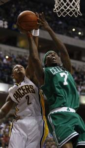 Marquis Daniels's return to Indiana didn't go as planned, between Earl Watson's block and the Celtics' loss.