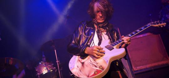 Joe Perry (shown playing in Foxborough in September) has taken to the road with a five-piece band of his own.