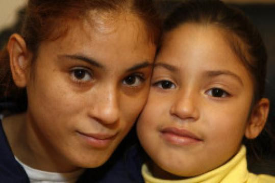 Maria Bonilla, 27, with daughter, Alys