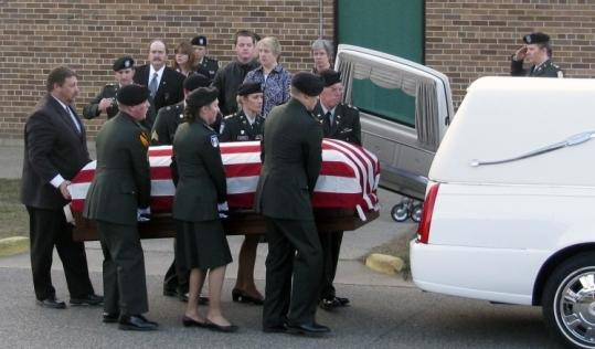 A funeral was held Monday in Wisconsin for Captain Russell Seager, who was killed in the Fort Hood shooting.