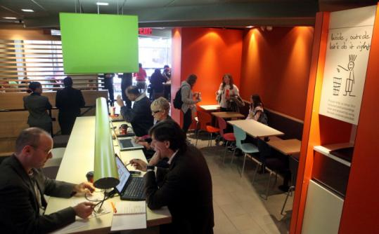 The renovated McDonald's restaurant in Manhattan offers the same menu but a Danish modern decor and free WiFi.