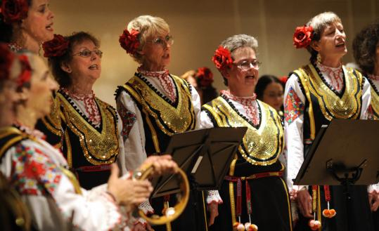 The Balkan choral group Divi Zheni (Wild Women) is enthralled by the droning and asymmetrical meters of Bulgarian folk music.