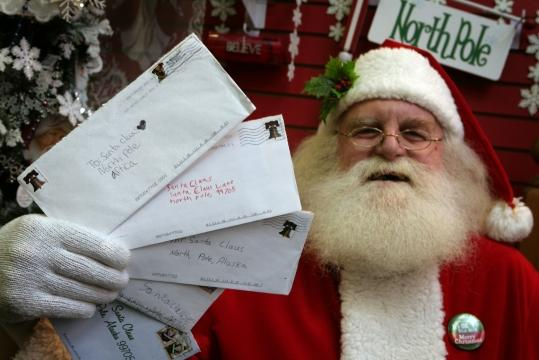 The Santa letter program is a revered holiday tradition in North Pole, Alaska, where light posts are curved and striped like candy canes and streets have names such as Kris Kringle Drive.