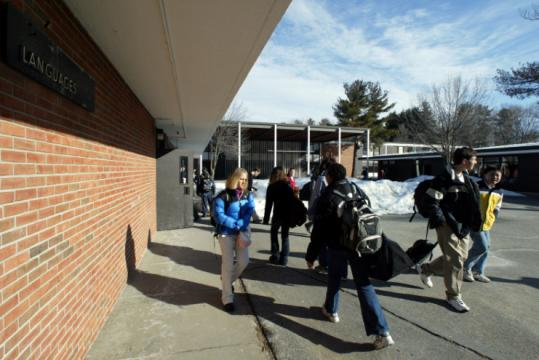 Proponents of a new high school argued at Town Meeting the existing school, built in 1960, is outdated and overcrowded.