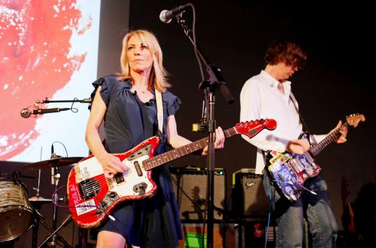 MARK VON HOLDEN/GETTY IMAGES/file Kim Gordon (left) and Thurston Moore of Sonic Youth in New York City earlier this year.