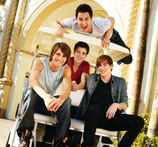 'Big Time Rush' stars (from left) Carlos Pena, James Maslow, Logan Henderson, and Kendall Schmidt.