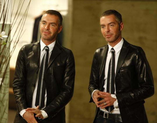 "Designers Dan Caten (left) and his twin brother, Dean, are the hosts of Bravo's newest show, ""Launch My Line,'' in which non-fashion designers create complete clothing lines."