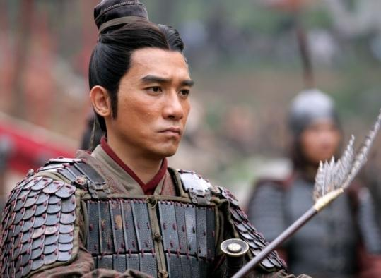 Tony Leung, as Zhou Yu, one of the warlords bent on denying Cao Cao (Zhang Fengyi) in his bid to unify China&#8217;s territories.