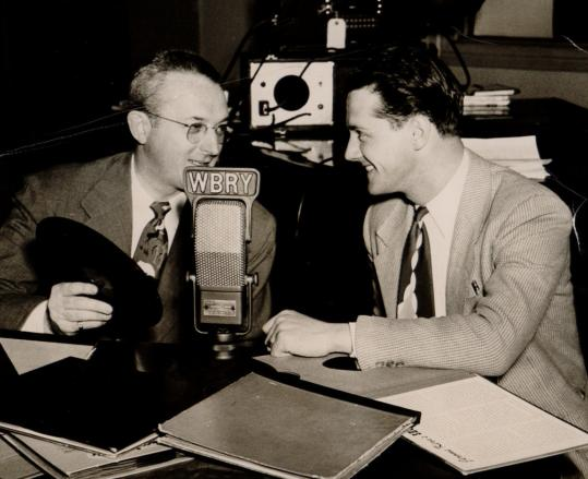 Alan Dary (right), talking with swing legend Tommy Dorsey
