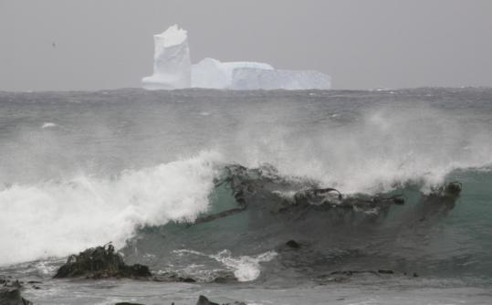 An iceberg loomed off the east coast of Australia's Macquarie Island earlier this month.