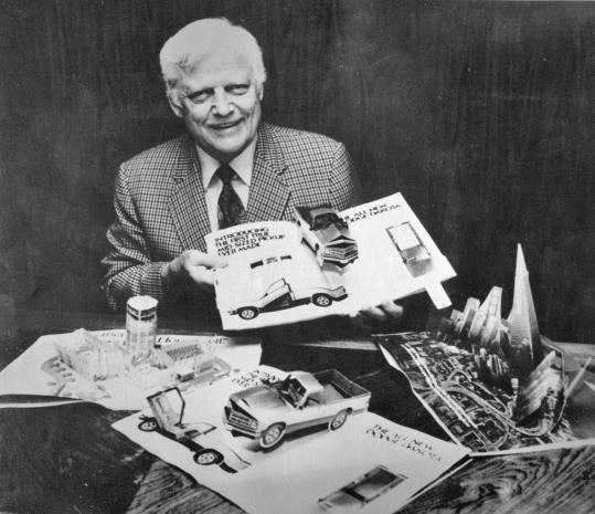 Waldo Hunt displayed pop-up ads created by his company for Time and Sports Illustrated magazines in 1986. Intervisual Books made many of the best-known pop-up books of the era.