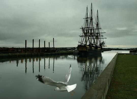 Friendship, a reconstruction of a fully rigged East Indiaman, is back in Salem again after extensive repairs in Maine.