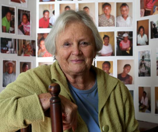 Sarah Hackett lives in the Annisquam section of Gloucester, but returns to Haiti every year for seven or eight months at a time.