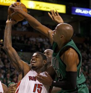 Ray Allen had a big hand in Boston's win, scoring