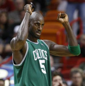 After scoring 24 points and grabbing eight rebounds, Kevin Garnett could afford to be a little pumped at game's end.