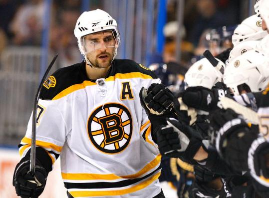 Forward Patrice Bergeron didn't practice yesterday, but coach Claude Julien said he'll be in uniform for tomorrow's game against Tampa Bay.