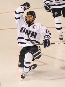 Marlborough High graduate Bobby Butler has had plenty to celebrate this season at the University of New Hampshire,