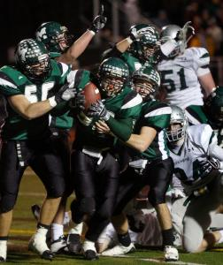 Bob MacNeil's second touchdown run put the finishing touch on Marshfield's rout of Duxbury in the Division 2A semifinals.