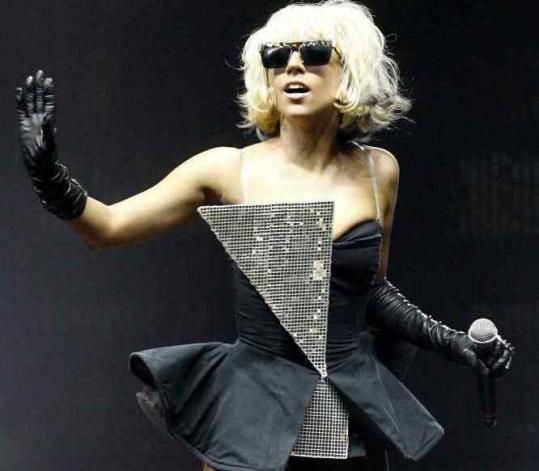 Lady Gaga, shown in May, rocked the Citi Wang Theatre last night with anthems and music from a new album.