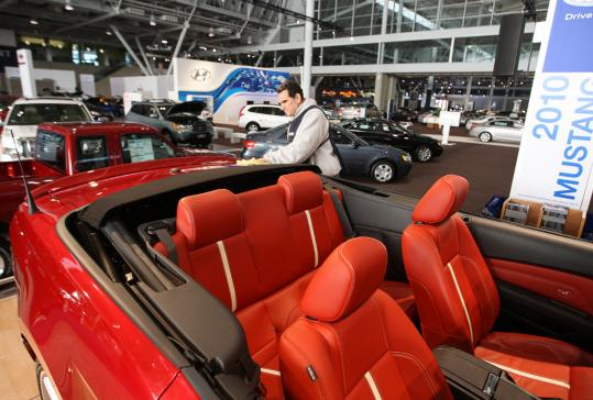 This 2010 Mustang convertible will be among the flashy New England International Auto Show lineup.