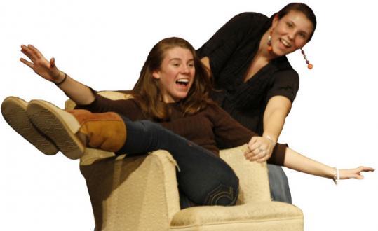 Celeste Hall (left) and Jessica Stout