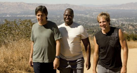"From left: Ray Romano, Andre Braugher, and Scott Bakula play old college buddies dealing with personal problems and other issues in ""Men of a Certain Age.''"