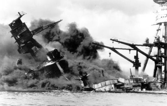 The USS Arizona was one of four battleships that sank during the Japanese attack on Pearl Harbor on Dec. 7, 1941.