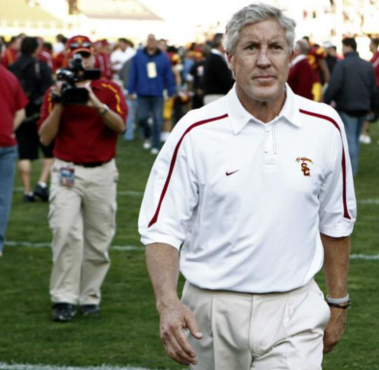 Pete Carroll and USC can look forward to a Dec. 26 date with BC in the Emerald Bowl.