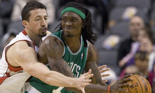 The Celtics' Marquis Daniels has a wrist/thumb injury that flared up in practice yesterday.