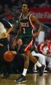 File/Jonathan Daniel/Getty Images Just seven games into his NBA career, Bucks guard Brandon Jennings scored 55 points against the Warriors.