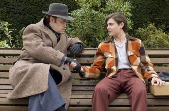 Christian McKay (left, with Zac Efron as Richard Samuels) as a young Orson Welles.