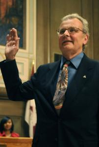 Cecil Bothwell took the oath of office in Asheville, N.C.