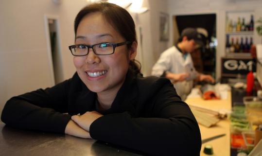 Diane Chung hopes cash discounts with maki rolls will entice customers and increase business at her Japanese restaurant in Brookline.