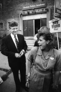 Mr. Tierney ran an unsuccessful campaign for mayor in 1987. He was photographed after voting with his daughter, Deirdre.