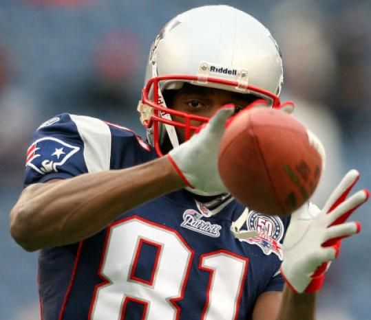 """Patriot Randy Moss, a great catch in 2007, is giving new meaning to the word """"game-breaker.''"""