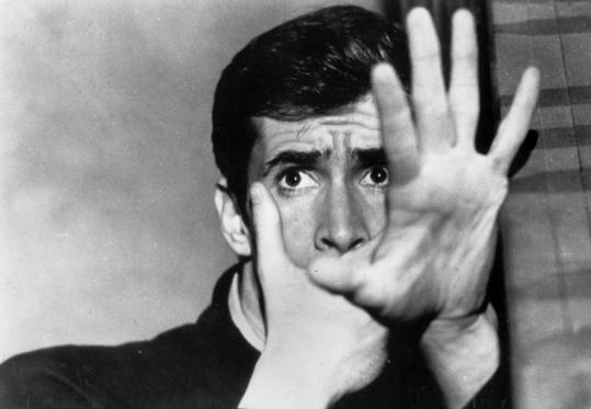 "Anthony Perkins as Norman Bates in Alfred Hitchcock's 1960 groundbreaking thriller ""Psycho.''"