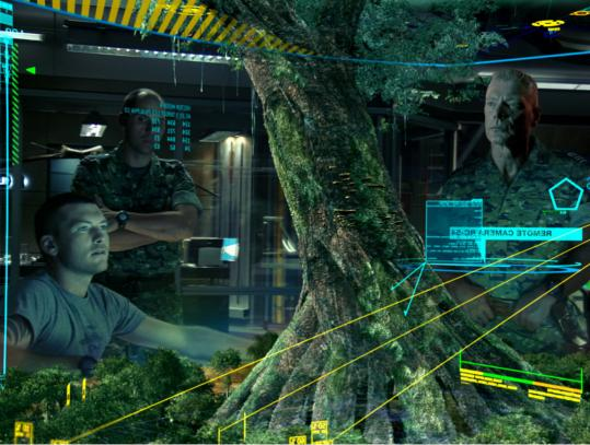 "A scene from the James Cameron film ""Avatar.'' Problems with the 3-D projector during the critics' screening created ""ghosting'' issues affecting the movie-watching experience."