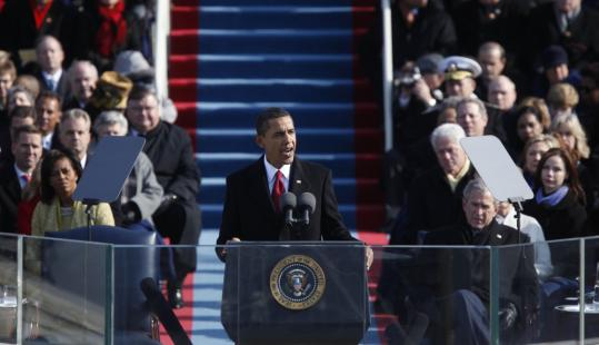 At his inauguration, Barack Obama pledged to harness the powers of Washington for the common good, saying the critical issue was whether government works.