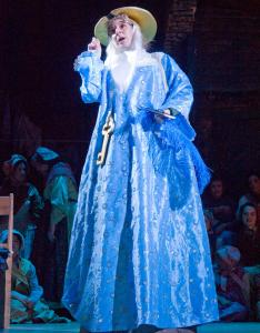 "Newton resident Bobbie Steinbach performs as St. Peter in ""Wicked John and the Devil'' as part of ""The Christmas Revels: In Celebration of the Winter Solstice,'' through next Sunday at the Sanders Theatre."